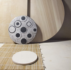 elemento decorativo in ceramica raku