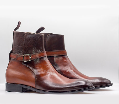 Hand Painted Ankle High Jodhpurs Leather Boot