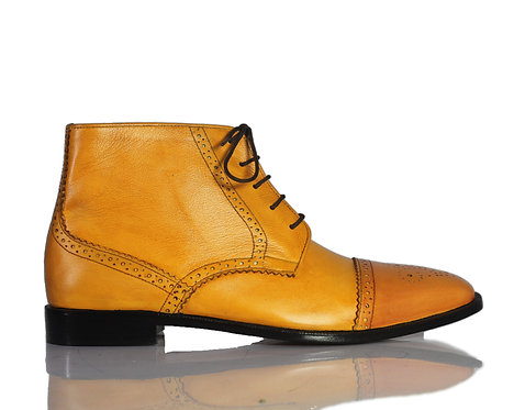 Men's Iron Ranger Leather Boots in Tan Color