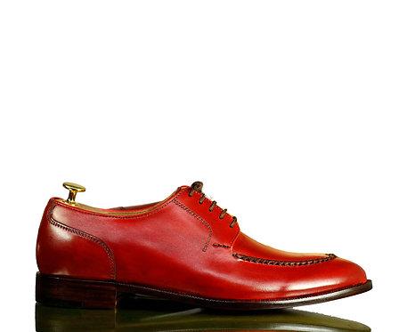 Burgundy Dress Leather shoes for men