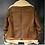 Thumbnail: Men's Brown B3 RAF Flight Bomber Aviator Real Sheepskin Leather Shearling Jacket