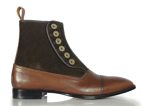 New Men's Button Closer Designer Stylish Outfit Boots
