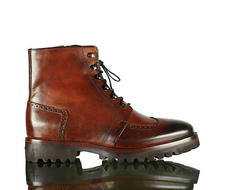 Men's Desert Leather Boots in Brown
