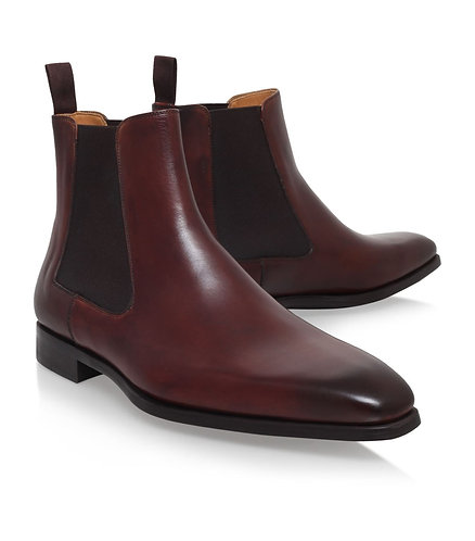 Handmade men fashion Maroon color Chelsea boot Men ankle formal boot ankle boot