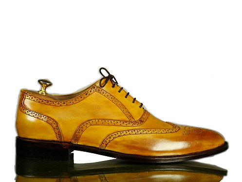Men's Oxfords Shoes Wing tip Leather Brogue Shoes