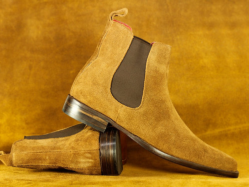 Stylish Ankle High Tan Chelsea Leather Boot