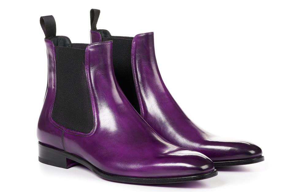 Men's Purple Chelsea Boots Slip On