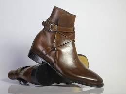 Handmade Men's brown Jodhpurs Dress Ankle boots