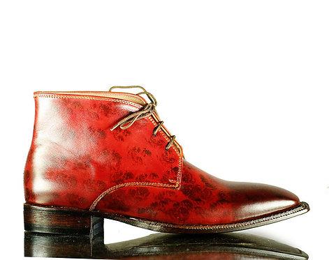 Men's Iron Ranger Chukka Leather Boots Burgundy Boots