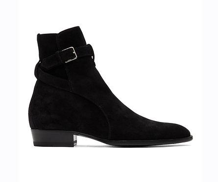 Jodhpurs Black Boots Buckle Designer Ankle Boots