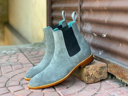 Men's Gray Chelsea Boots