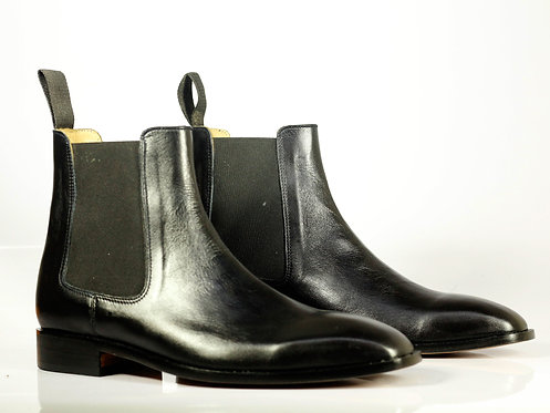 Men's Iron Ranger Leather Stylish Boots in Black Chelsea Boot