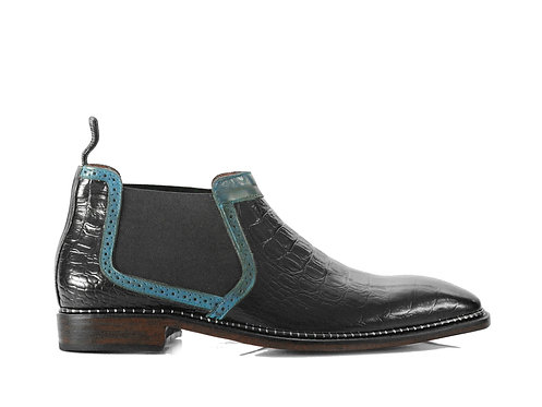 Men's Handmade Chelsea Boots, Alligator Leather Boots