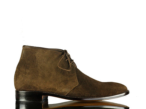 Brown Chukka Suede Boots Leather Ankle Dress Boot