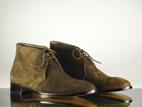 Men's Chukka Brown Half Ankle Suede Boots Dress Boot