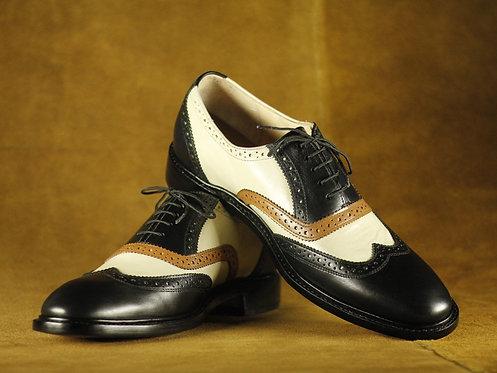 Multi color Men Leather Shoes, Dress Wing tip shoes