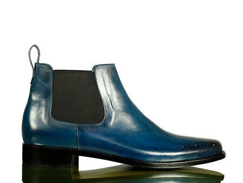 Men's Chelsea Boots Slip On Leather Boots