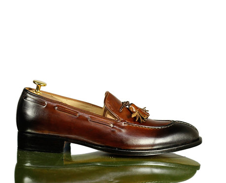 Bespoke Men's Tussle Split Toe Leather Shoes