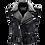 Thumbnail: Handmade Vest Jacket Men Black Punk Silver Long Spiked Studded Sleveless Jacket