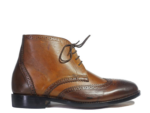 Men's Chukka Boots Men Lace Up Leather Boots