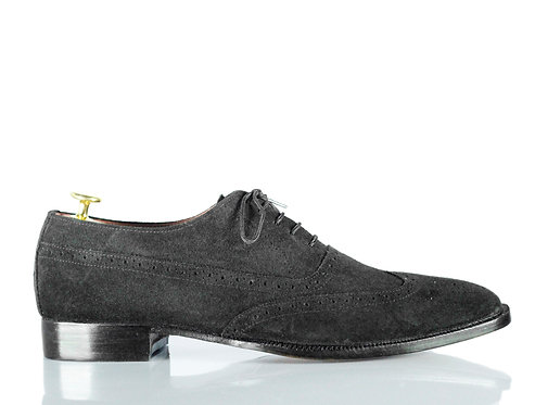Men's Retro Black Oxford Suede Office Shoes