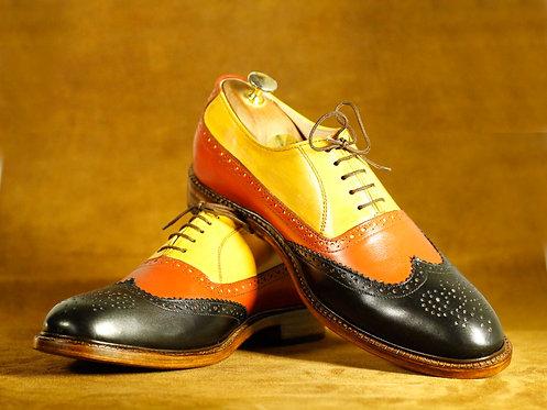 New Handmade Men Multi Color Monk Leather Dress Shoes
