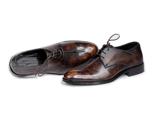 Hand Crafted Vintage Brown Leather Lace up Shoes