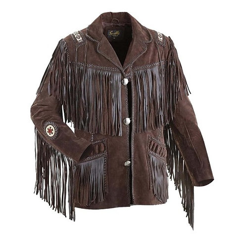 Mens Suede Leather Jacket Western Wear Cowboy, Men Suede Leather Jacket