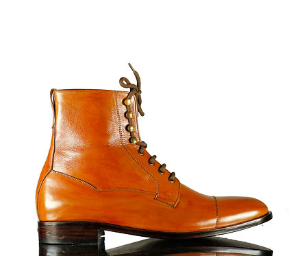 Men's Iron Ranger Leather Boots in Mustard Brown