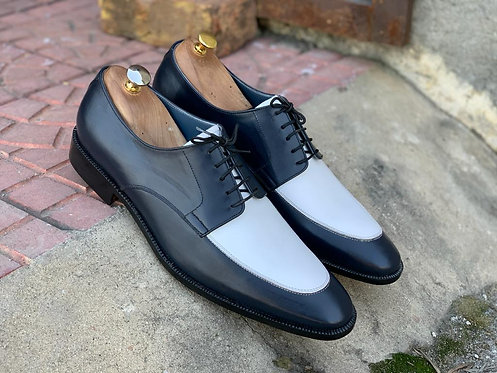 Handmade Two Tone Lace Up Leather Shoes