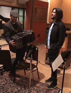 Recording Session with Juanes
