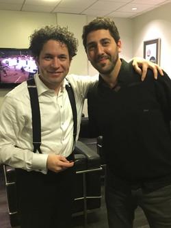 With Gustavo Dudamel _Hollywood Bowl