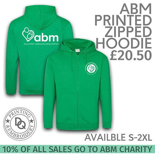 ABM Printed Zipped Hoodie