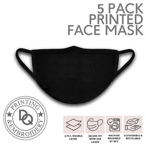 5 Pack Printed Face Mask's