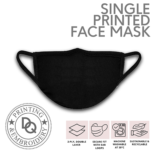 Single Printed Face Mask