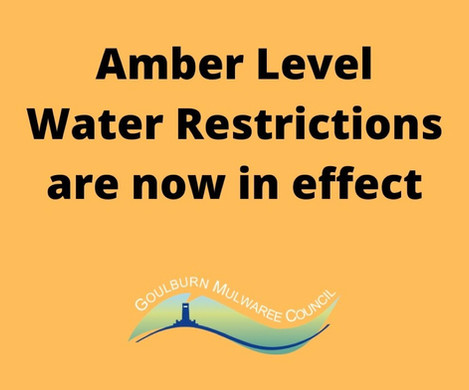 Amber Level Water Restrictions