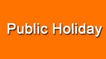 Upcoming Public Holidays