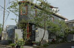 門柱|石積み|枕木アプロー|ウッドフェンス|立水栓(外構工事)チ
