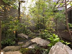 石|ウッドデッキ|ウッドフェンス(庭改修工事)