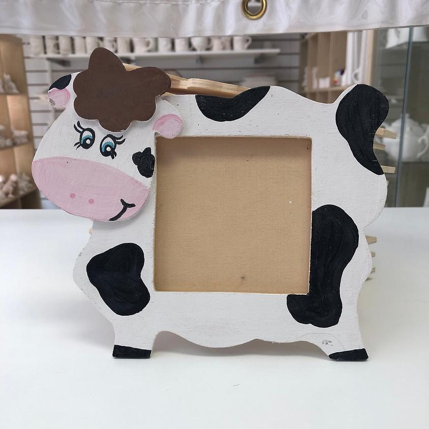 Kids Cow Frame Workshop