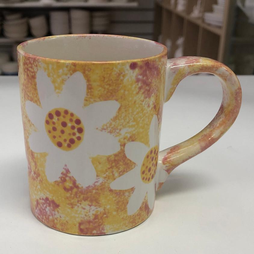 Kids Floral Mug Workshop
