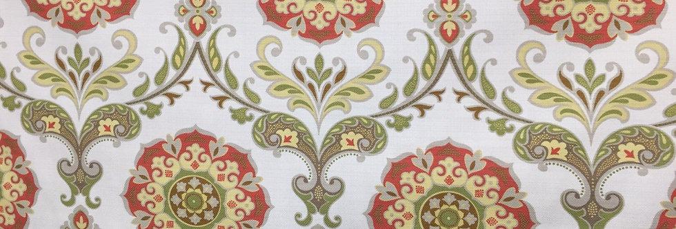 Red and Yellow Suzani Fabric - Roman Shades