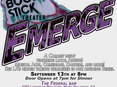Line-up for This Fall's Emerge Cabaret!