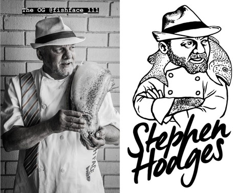 Stephen Hodges Logo Caricature