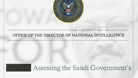 The CIA report on the Khashoggi case. FI calls the EU to take initiative.