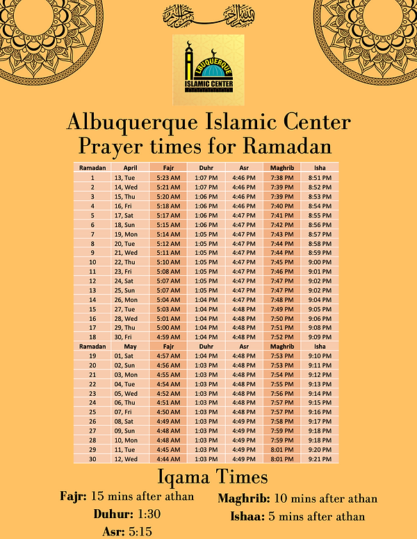 Albuquerque Islamic Center Calender.png
