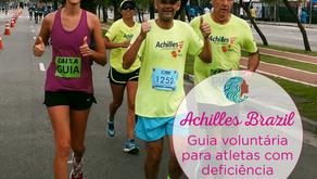 Achilles International Brazil - Guia voluntária para atletas com deficiência