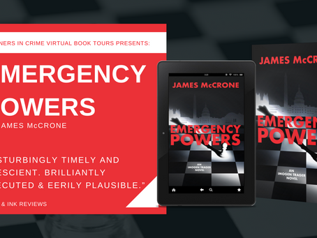 TOUR, EXCERPT & #GIVEAWAY - Emergency Powers (Imogen Trager #3) by James McCrone