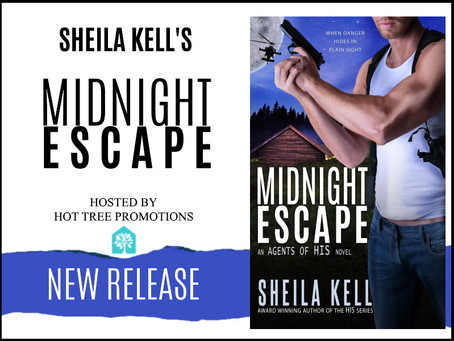 RELEASE BLITZ & #GIVEAWAY - Midnight Escape (Agents of HIS #2) by Sheila Kell