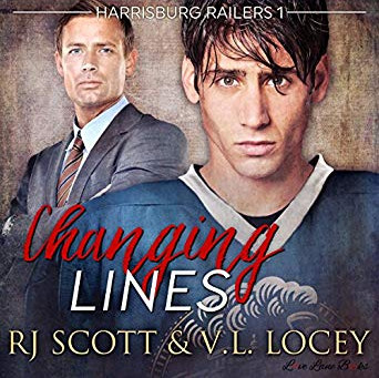 AUDIO - Changing Lines (Harrisburg Railers #1) by R.J. Scott & V.L. Locey, narrated by Sean Cris